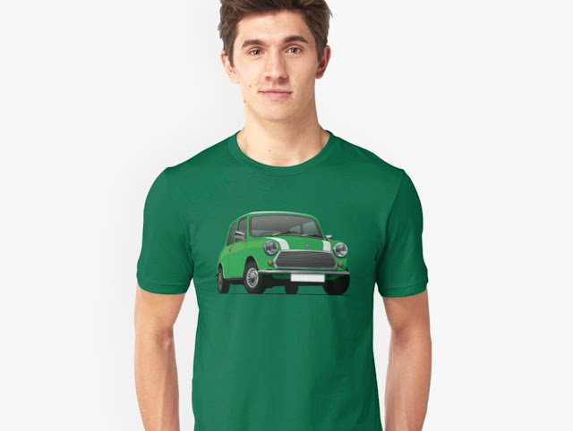 British classic car T-shirt - Austin/Morris Mini