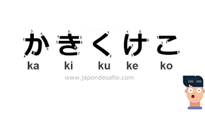 Aprender Japonés - かきくけこ Ka Ki Ku Ke Ko