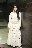 Megha Akash in beautiful White Anarkali Dress at Pre release function of Movie LIE ~ Celebrities Galleries 061.JPG