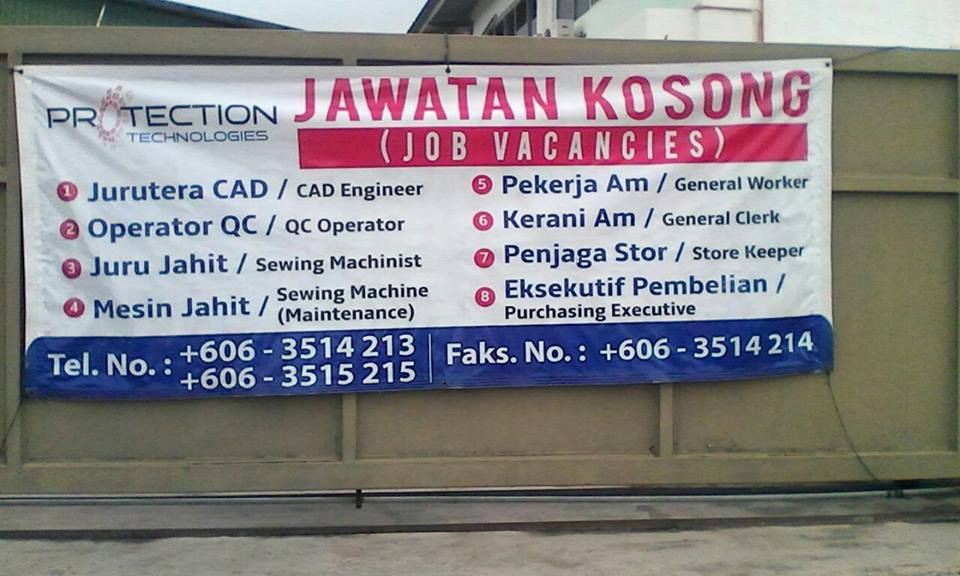 Jawatan Kosong Jawatan Kosong Protection Technologies Bukit Rambai Melaka Terkini
