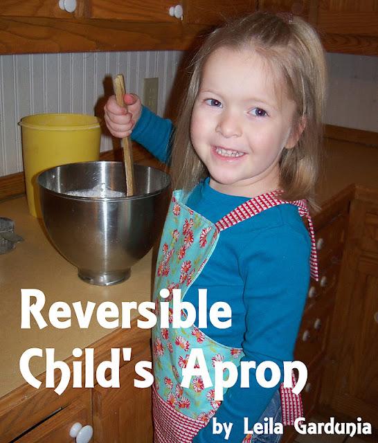 Sewn By Leila Gardunia: Reversible Child's Apron