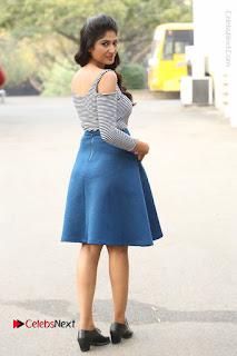 Telugu Actress Roshini Prakash Stills Short Dress at Saptagiri Express Release Press Meet  0224.JPG