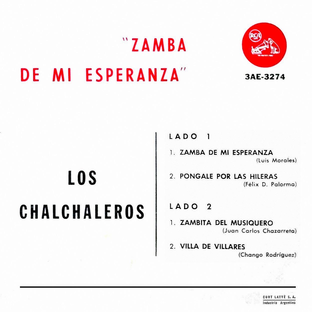Folklore Del Noa Los Chalchaleros Zamba De Mi Esperanza Disco