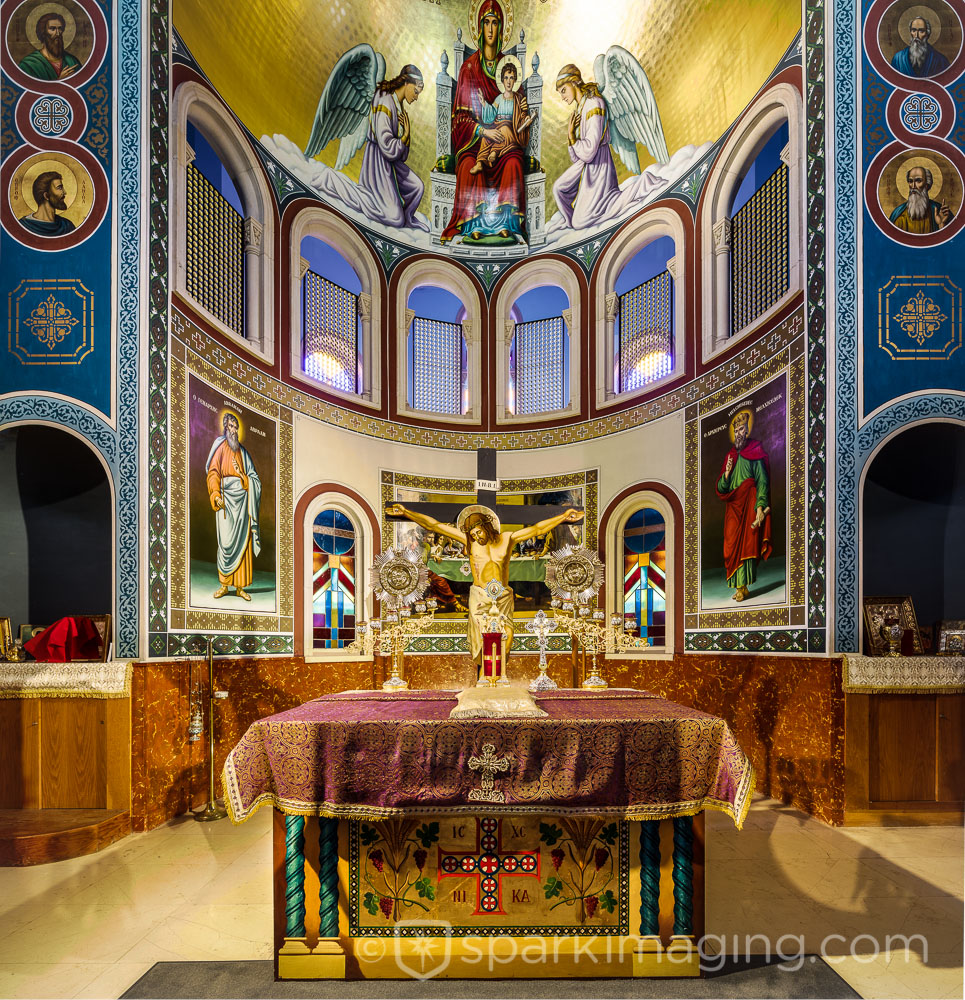 Greek Wedding Altar: Malbis Memorial Greek Orthodox Church