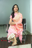 Actress Ritu Varma Pos in Beautiful Pink Anarkali Dress at at Keshava Movie Interview .COM 0223.JPG