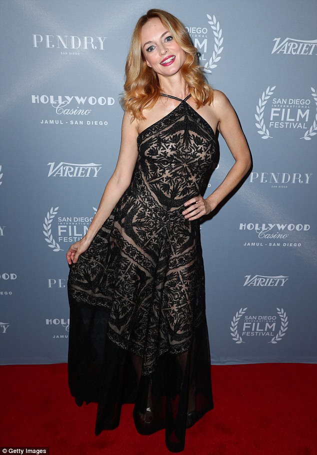 6799b614cf3 Heather Graham on a red carpet in San Diego and