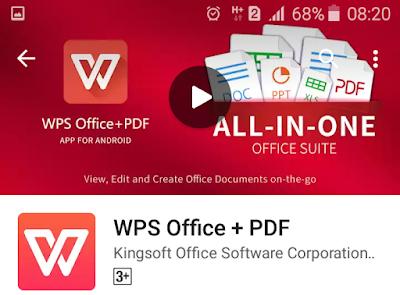 Aplikasi untuk mengoperasikan Ms.Office dan Pdf di Android dengan mudah