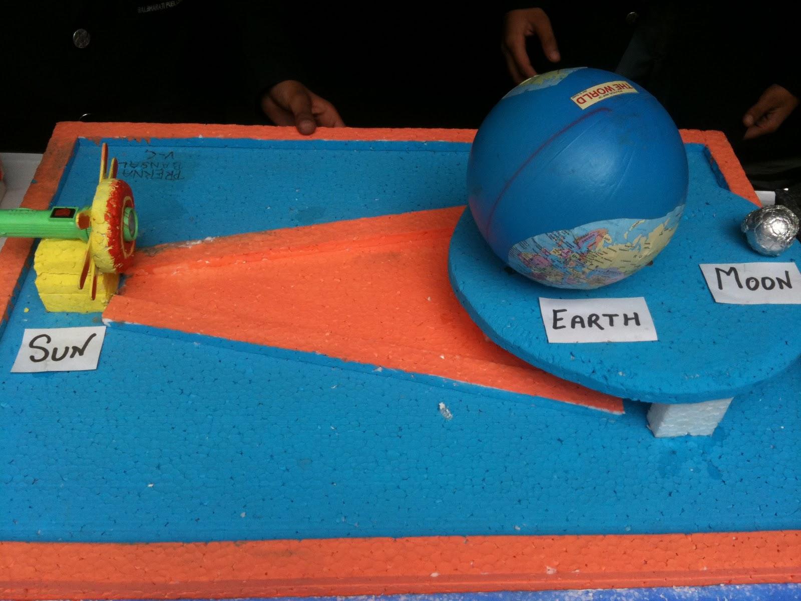 Bbps Bal Bharati Public School Rohini Model On Lunar Eclipse