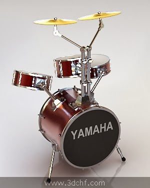 drumset 3d model free