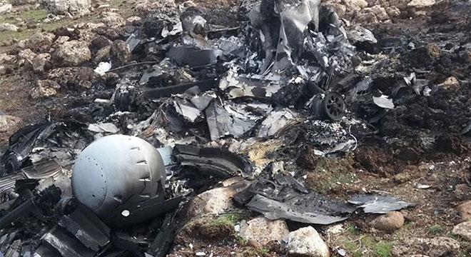Çınar'da düşen SİHA'nın mühimmatının patlamaması olası facianın önüne geçti