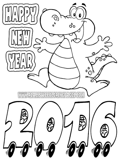 new years coloring pages preschool 2016