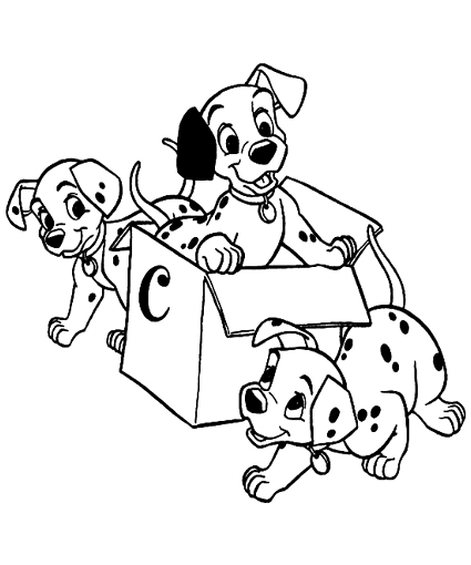 dalmations coloring pages - photo#48