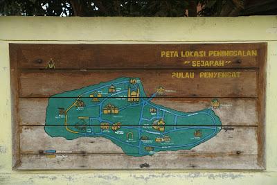 Peta lokasi Peninggalan Sejarah Pulau Penyengat