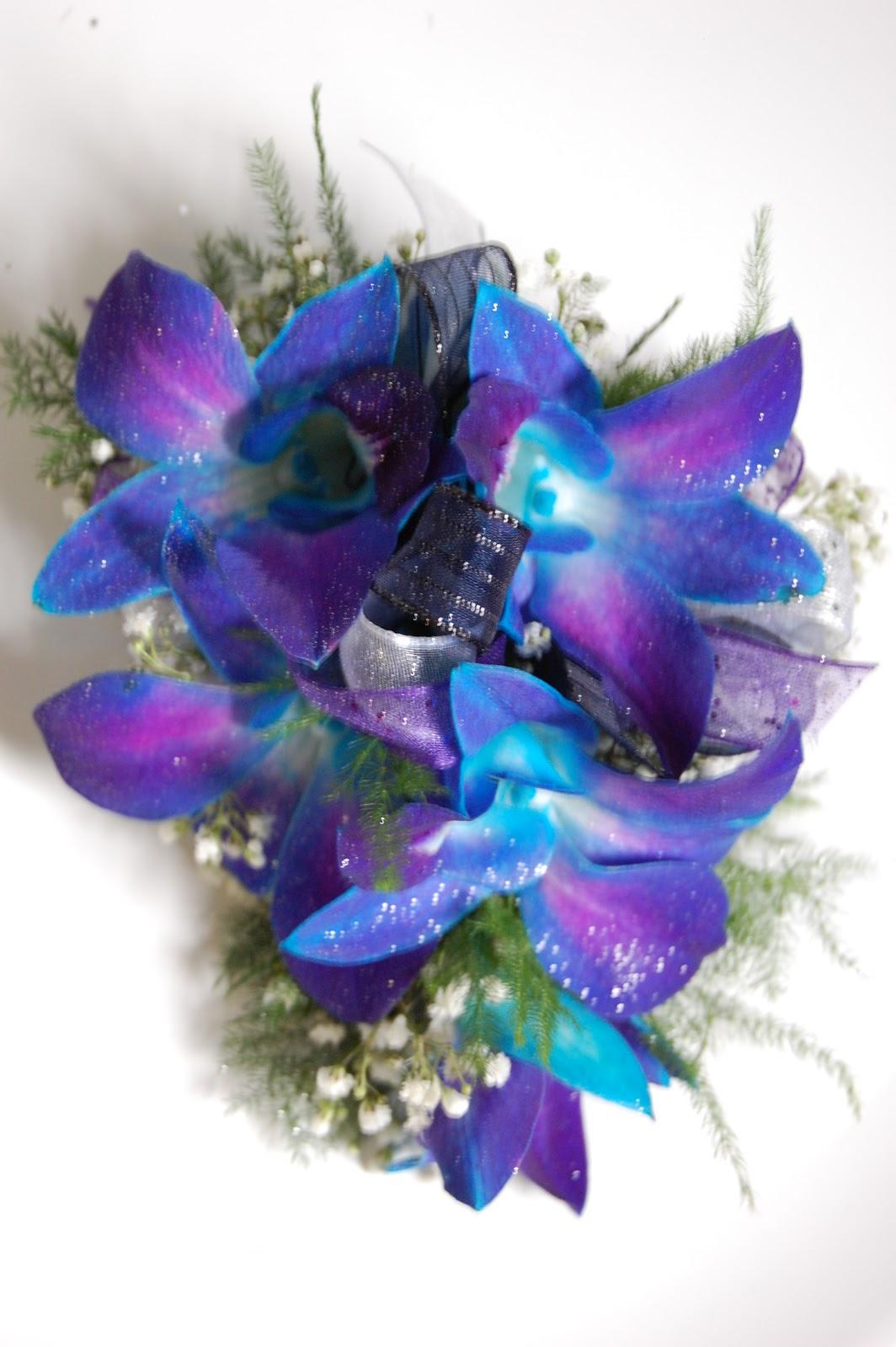 Blue Flower For Prom 116