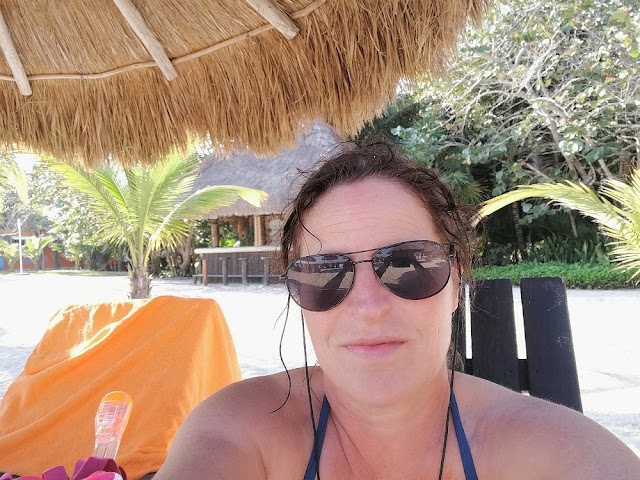 Barbara beim Schnorcheln im Park Chankanaab auf Cozumel