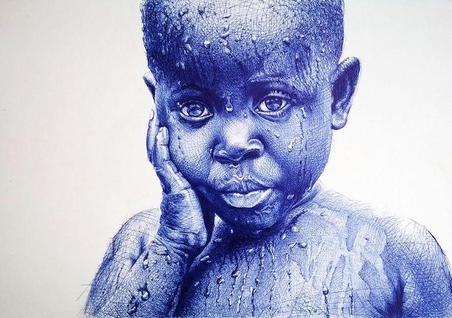 Невероятные картины, написанные обычной шариковой ручкой