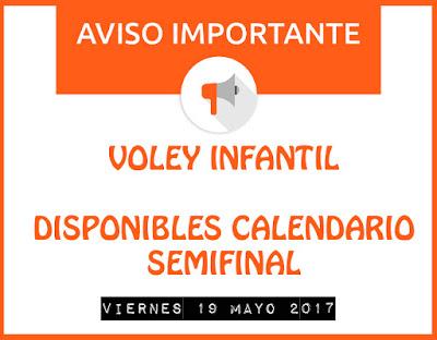 VOLEY INFANTIL: CALENDARIO SEMIFINALES
