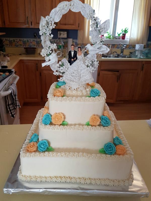 Anniversary cake | DevotedQuilter.blogspot.com