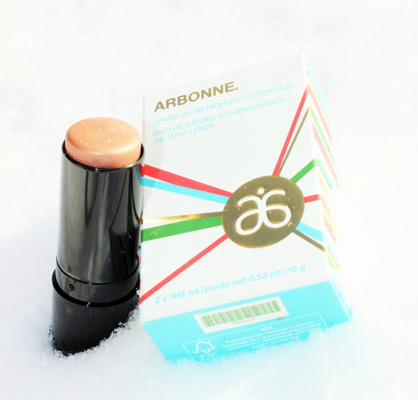 A REVIEW OF ARBONNE SHEER GLOW HIGHLIGHT STICK DUO