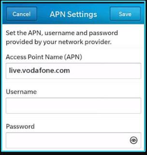 New Vodafone apn settings blackberry