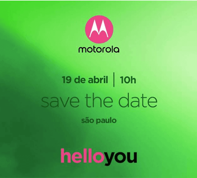 Motorola Brazil is announcing the Moto G6 Plus on April 19