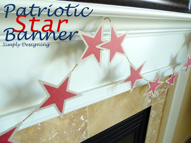 Patriotic Banner @SimplyDesigning #patriotic #4thofJuly #MemorialDay #holiday #sillhouette #stars #star #banner #garland