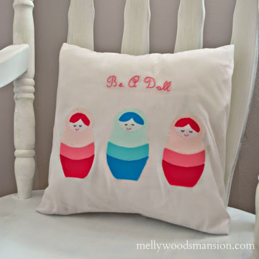Ombre Russian Doll Pillow