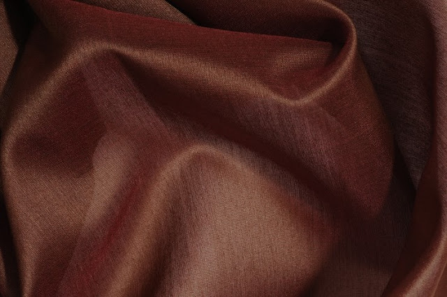Rustic Brown Cotton Silk Fabric