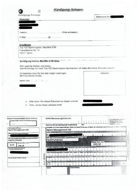 Scan: Spare AG Forderungsmanagement & Inkasso Büro / Seite 3