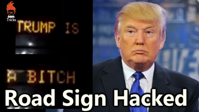 Road Sign Is Hacked Amongst Anti-Trump Message