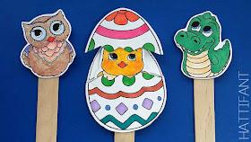 easter surprise eggs printable craft sticks