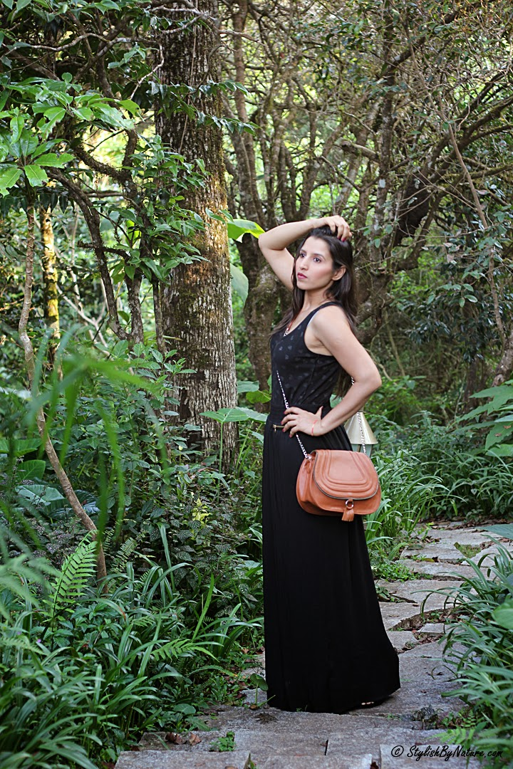 Recycle your Summer Black Maxi Dress for Fall
