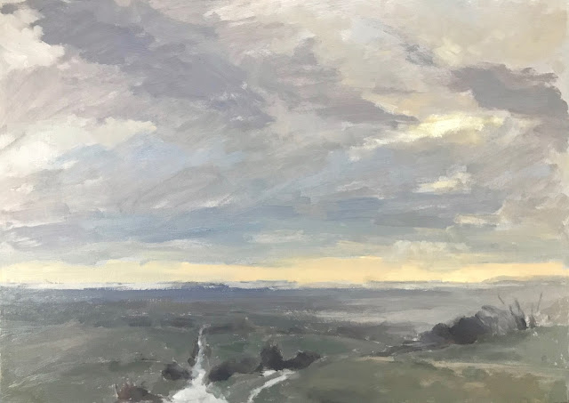 #285 'Winter Sky, The Trundle' 12×16″