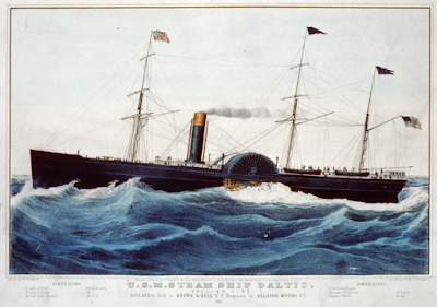 image of ss Baltic immigration ship sailing from Bremen and Southampton to NY