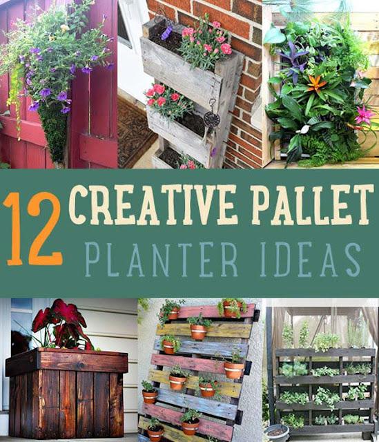 DIY garden pallet planters
