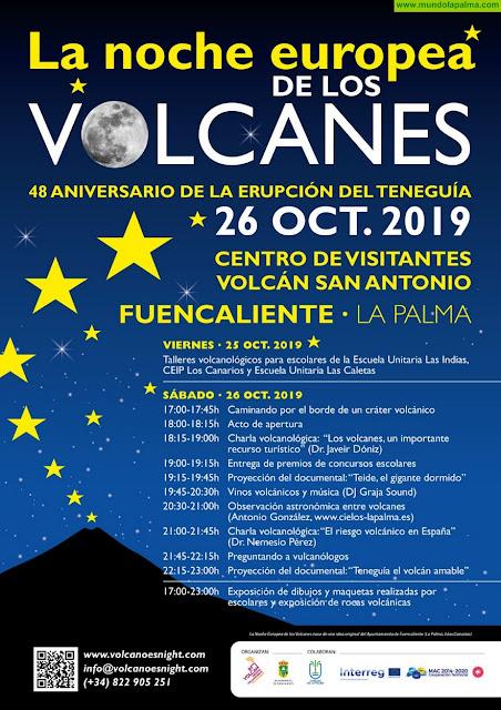 La Noche de los Volcanes de 2019 en Fuencaliente conmemora el 48 aniversario de la erupción del Teneguía