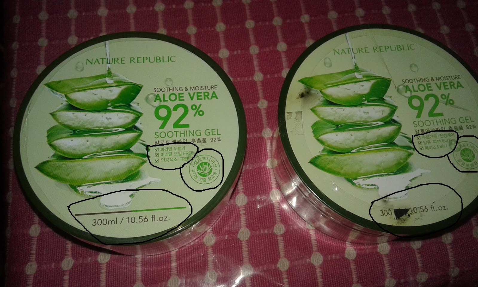 Nature Republic Aloe Vera Palsu Atau Kemasan Baru Ada Embos Soothing Gel 300 Ml Sebelah Kiri Aku Beli Di Web Online Shop Yang Mempunyai Pusat Korea Selatan Dan Kanan Terpercaya Daerah Jakarta