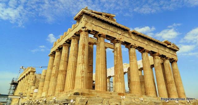 Partenon, na Acrópole de Atenas, Grécia