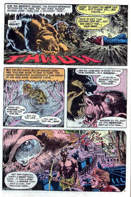 Swamp Thing v1 #8 1970s bronze age dc comic book page art by Bernie Wrightson