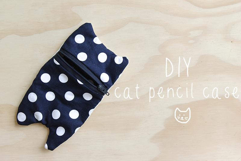 Harri Wren: DIY // Cat Pencil Case
