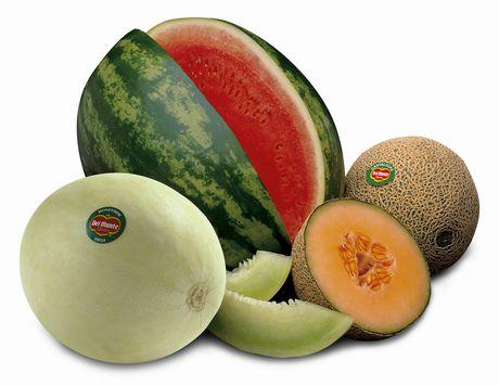 cuanto engorda la sandia y el melon