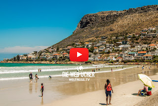 Strand am Fish Hoek Beach, world travel, weltreise, die wegsucher, arkadijs WELTREISE.TV