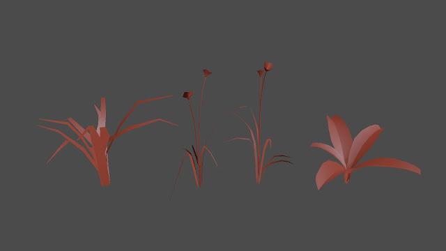 Variasi rumput yang saya gunakan pada tutorial ini