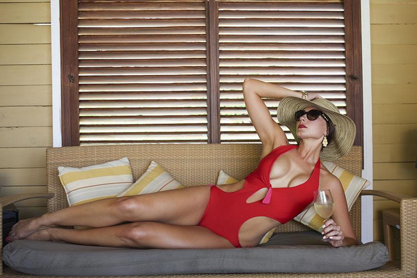 Amy West in swimwear by Lisa Kaminski