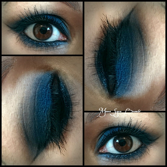 Make up inspi Kim Kardashian smoky eyes blue