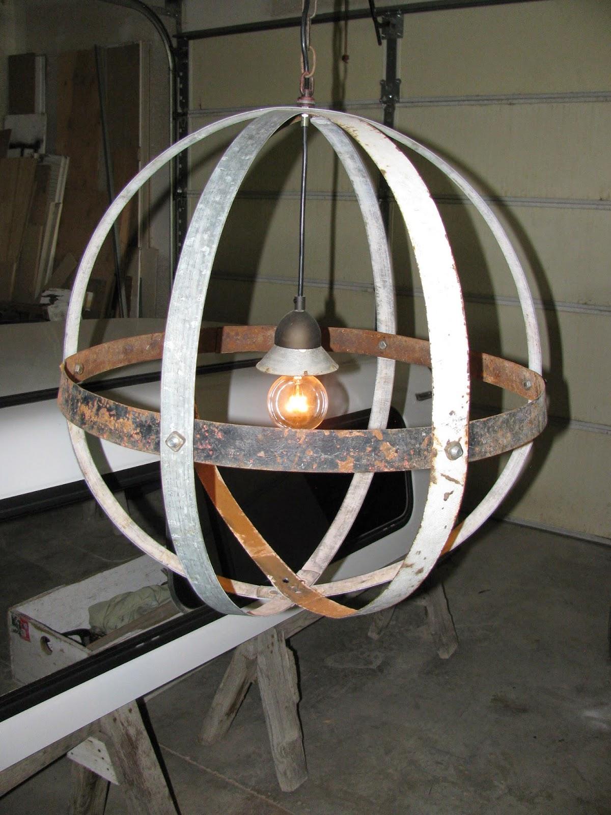 Reclaimed Rustics: VINTAGE ORB LIGHT FIXTURE