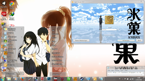 [Theme Win 7] Hyouka by Eldiaz7 1