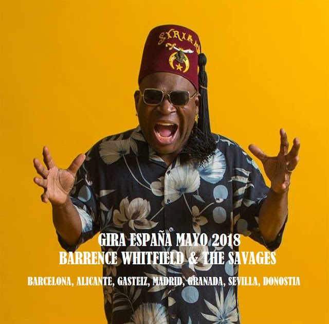 Barrence Whitfield & The Savages!!! Gira España mayo 2018 -1
