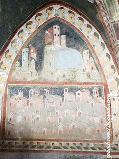 afresco santa escolastica cidade submetida monasterio - O Monastério de Santa Escolástica - bate e volta a partir de Roma