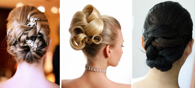 updo bridal hair